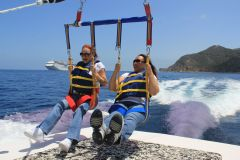 Parasailing with BFF Darlene on Catalina Island May 18-22 2014