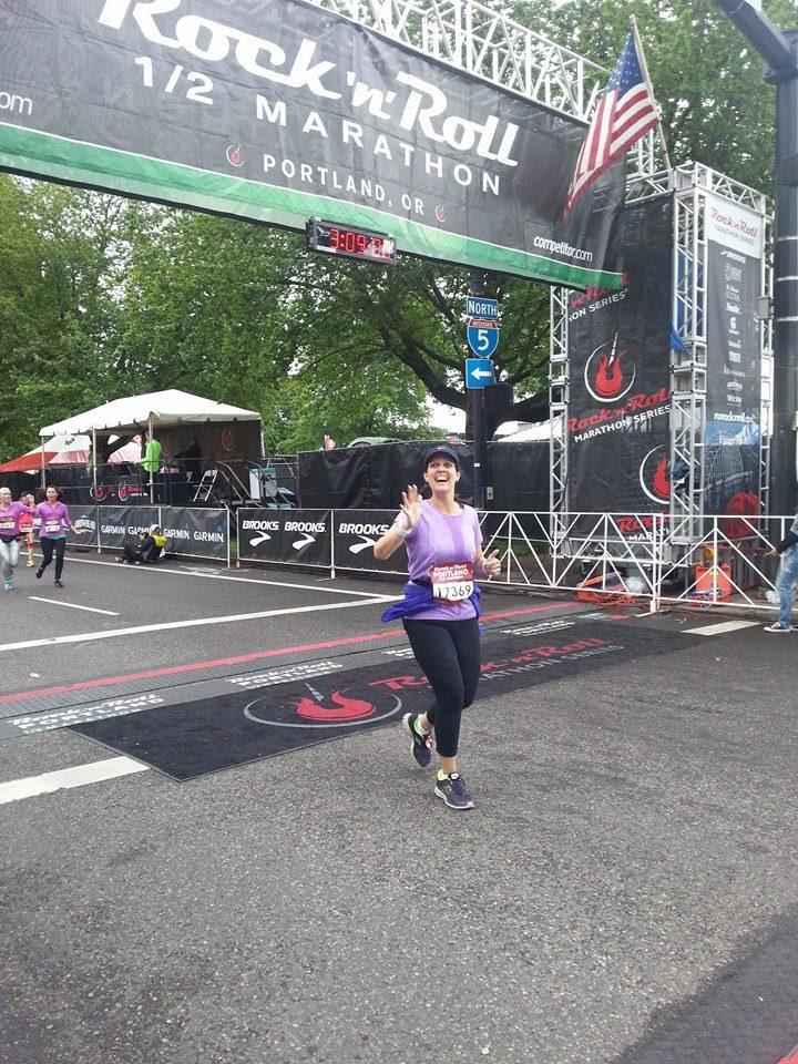 11 Months After Surgery - First 1/2 Marathon Run - 160 lbs (110 lbs lost)